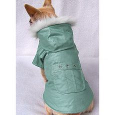 Kurtka dla psa z kieszeniami - zielona, L
