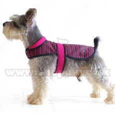 Kamizelka dla psa - różowo-czarna, XL