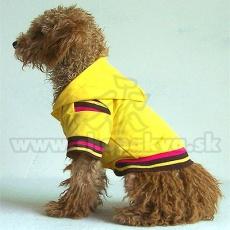 Bluza dla psa, z kapturem - żółta, M