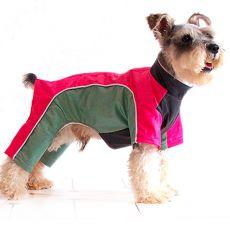 Kombinezon dla psa - różowo-zielony, S
