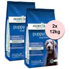 ARDEN GRANGE Puppy / Junior Large Breed with fresh chicken and rice 2 x 12 kg