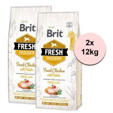 Brit Fresh Chicken with Potato Adult Great Life 2 x 12 kg