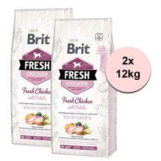 Brit Fresh Chicken with Potato Puppy Healthy Growth 2 x 12 kg