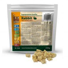HUHU Bamboo kawałki skóry królika z ryżem 230 g