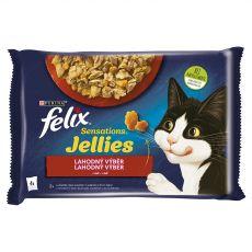 Saszetka FELIX Sensations Jellies, smaczna selekcja w galarecie 4 x 85 g