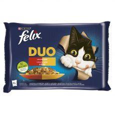 Saszetki FELIX Fantastic DUO, smaczna selekcja w galarecie 4 x 85 g