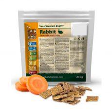 HUHU Bamboo kostki ze skóry królika z marchewką 230 g