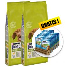 PURINA DOG CHOW ADULT Chicken 2 x 14 kg+ PREZENT