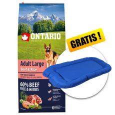 ONTARIO Adult Large Beef & Rice 12kg + PREZENT