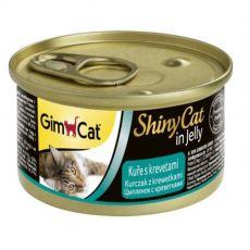GimCat ShinyCat kurczak + krewetki 70 g