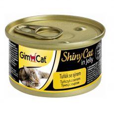 GimCat ShinyCat tuńczyk + ser 70 g