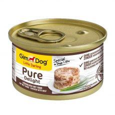 GimDog Pure Delight kurczak + wołowina 85 g