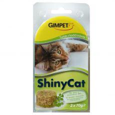 GimCat ShinyCat tuńczyk + trawa 2 x 70 g