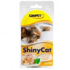 GimCat ShinyCat tuńczyk + kurczak 2 x 70 g