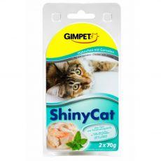 GimCat ShinyCat kurczak + krewetki 2 x 70 g