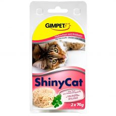 GimCat ShinyCat kurczak + krab 2 x 70 g