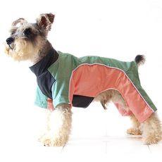 Kombinezon dla psa - zielono-brzoskwiniowy, S