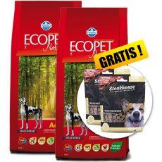 Farmina MO P ECOPET N dog ADULT MAXI 2 x 12 kg + 4 kg GRATIS + PREZENT