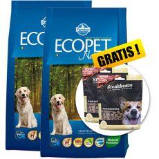 Farmina MO P ECOPET N dog FISH MEDIUM 2 x 12 kg + 4 kg GRATIS + PREZENT