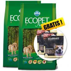 Farmina MO P ECOPET N dog PUPPY MEDIUM 2 x 12 kg + 4 kg GRATIS + PREZENT