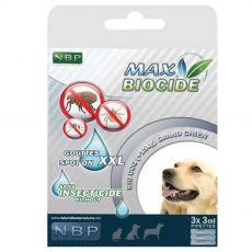 MAX BIOCIDE Krople przeciwpasożytnicze dla psów 3 x 3 ml