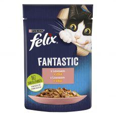 Saszetka FELIX Fantastic z łososiem w galarecie 85 g