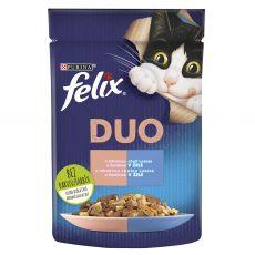 Saszetka Felix Fantastic Duo o wyśmienitym smaku łososia i sardynek w galarecie 85 g