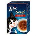 FELIX Soup Smaczna selekcja z wołowiną, kurczakiem, jagnięciną 6 x 48 g