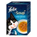FELIX Soup Smaczna selekcja z dorszem, tuńczykiem, gładzicą 6 x 48 g