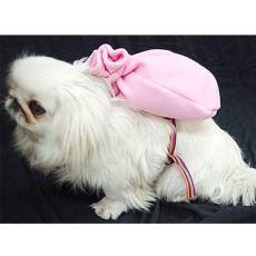 Torebka dla psa z uprzężą - różowa