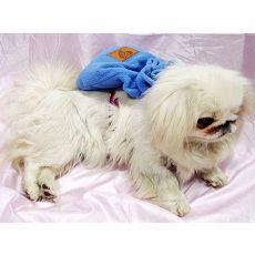Mała torebka dla psa z uprzężą - niebieska
