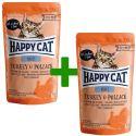 Saszetka Happy Cat ALL MEAT Adult Turkey & Pollack 85 g 1+1 ZA DARMO
