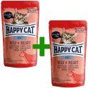 Saszetka Happy Cat ALL MEAT Adult Beef & Heart 85 g 1+1 ZA DARMO