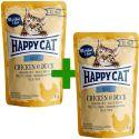 Saszetka Happy Cat ALL MEAT Adult Chicken & Duck 85 g 1+1 ZA DARMO