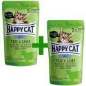 Saszetka Happy Cat ALL MEAT Adult Veal & Lamb 85 g 1+1 ZA DARMO
