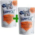 Saszetka Happy Cat MEAT IN SAUCE Adult Chicken & Turkey 85 g 1+1 ZA DARMO