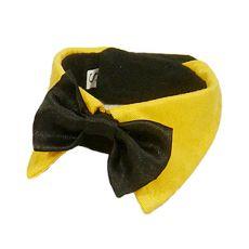Muszka dla psa - czarna z żółtym kołnierzem, L