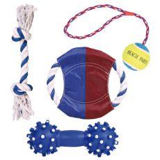 Wakacyjny zestaw zabawek dla psa