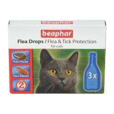Krople przeciw pchłom i kleszczom dla kotów - 3 szt.