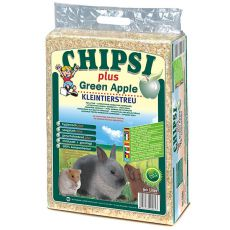 CHIPSI PLUS GREEN APPLE trociny dla gryzoni - 60 L