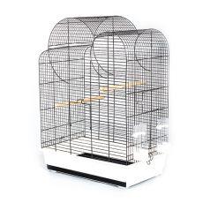 Klatka dla papug ELIZA - czarna - 54 x 34 x 75 cm
