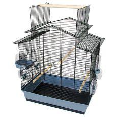 IZA III, klatka dla papug - czarna - 58,5 x 38 x 65 cm