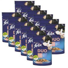 Saszetka Felix Fantastic Duo o wyśmienitym smaku łososia i sardynek w galarecie 12 x 85 g