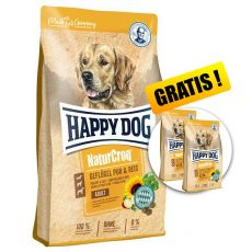 Happy Dog NaturCroq Geflügel Pur & Reis 15 kg + PREZENT