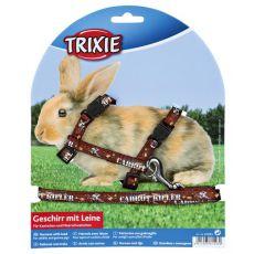 Szelki ze smyczą dla królików - w kolorze brązowym
