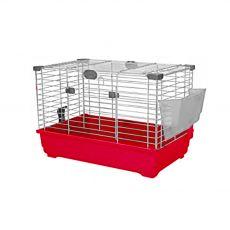 Klatka dla gryzoni TOMMY 62 K, czerwony- 62x37x35cm