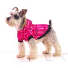Kurtka dla psa - różowa kratka, L