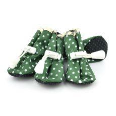 Buty dla psów - zielone, w kropki rozmiar nr. 4
