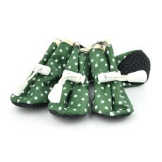 Buty dla psów - zielone, w kropki rozmiar nr. 5