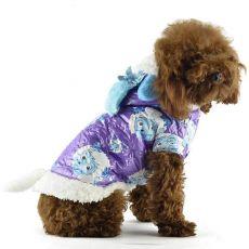 Futerko dla psa - fioletowe, z motywem baranów z kreskówki, L